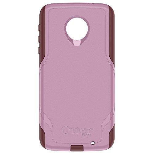 OtterBox Commuter Series Case for Motorola Moto Z Force Droid Edition - Retail Packaging - Mauve Way (Mauve Pink/Merlot Purple)