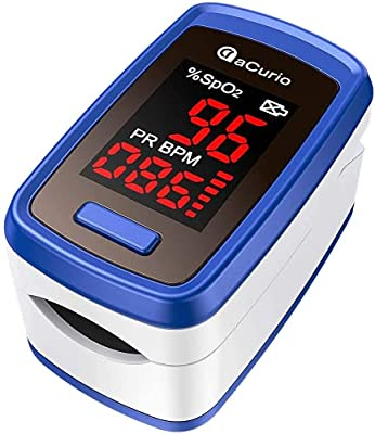 [2021] aCurio Pulse Oximeter NHS Approved Pulse-Oximeter Blood Oxygen Monitor–Oximeter NHS Approved UK Oxygen Monitor Finger Adults - SpO2, Oxygen Saturation Monitor NHS Approved