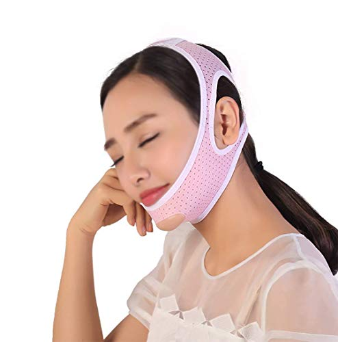XYSQWZ Lifting Facial V Mask Tight to Prevent Relaxation Skin Artefact Face-Lift Bandage Care (Taille: L)