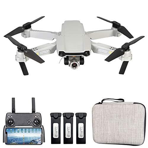 GoolRC X2 RC Drone con Doble Cámara 4K Mini Drone Quadcopter Plegable para Niños con Función Trayectoria Vuelo Modo sin Cabeza Vuelo 3D Auto Hover con 2 Baterías (Cámara Dual, 3 Batería)