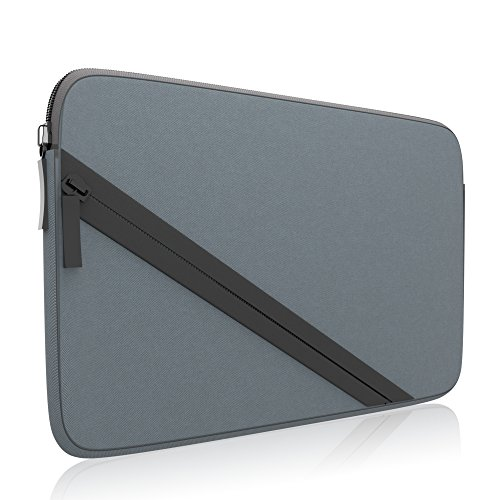 amCase Soft Sleeve Carrying Case Compatible with Nintendo 2DS XL and 3DS XL Complete with Accessory Pocket for Games and Charging Cable (Grey/Black)