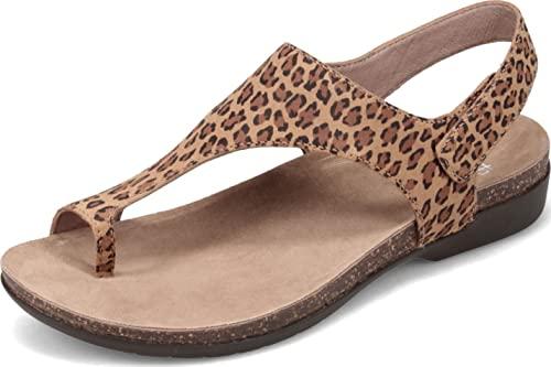 Dansko Women's Reece Leopard Suede Sandal 6.5-7 M US