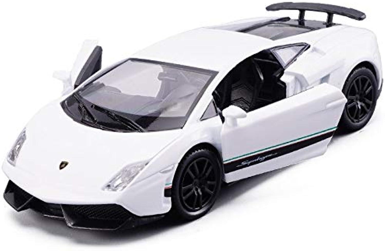 Generic 1 36 Simulation Toy Vehicles Diecast Car Alloy Metal for Lamborghini Gallardo LP570 Model Car Toy for Boys Vehicles for Kids White