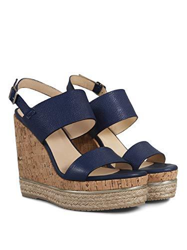Hogan sandaal met wighak H324 blauw - HXW3240X820 BUVU800 - maat