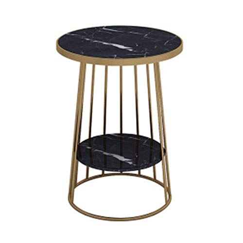 Small Side Table Nightstand/End Table Space Saving Side Table High And Narrow Entryway Table Telephone Table W/Storage Shelf For Living Room Bedroom And Office (Color : Black, Size : 50x60cm)