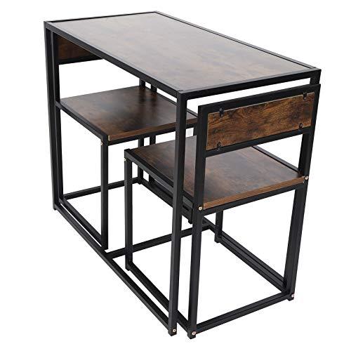 Emoshayoga Juego de Mesa Imitación de Grano de Madera Muebles para el hogar Mesa de Comedor Accesorios de Cocina Fuerte para Espacios pequeños Sala de Estar Cocina Hogar