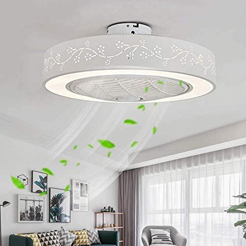 MAMINGBO Ventilador de techo LED con luz, con control remoto, silencioso, redondo, ventilador de techo, dormitorio, lámpara de techo, for sala de estar, dormitorio for niños