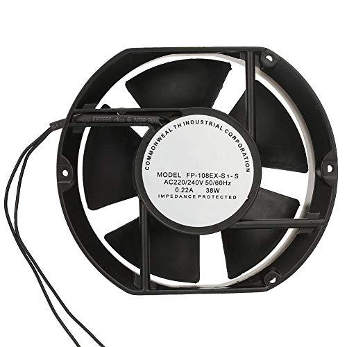 Ventilador axial, FP-108EX-S1-S Ventilador axial de CA AC220V 38W Ventilador de refrigeración con rodamiento de Bolas Ovalado