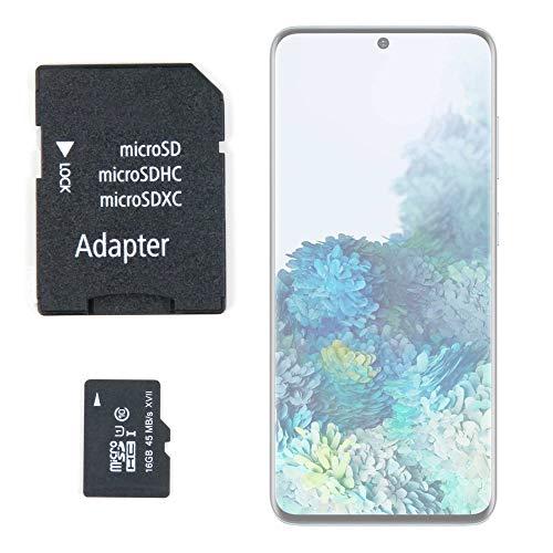 DURAGADGET Tarjeta de Memoria Micro SD HC 16 GB + Adaptador Compatible con Smartphone Samsung Galaxy S20 5G, Samsung Galaxy S20 Ultra 5G, Samsung Galaxy S20+ 5G