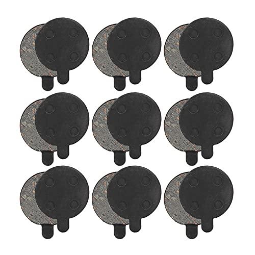 CAIFEIYU 9 Pares de Scooter Disc Freno Pad Semimetal MTB Pad Fit para Xiaomi M365 Piezas de Repuesto de Scooter eléctrico (Color : Black)