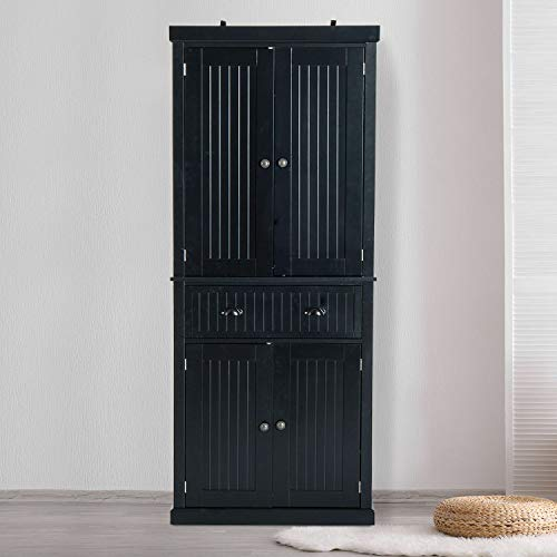 72 Tall Colonial Style Free Standing Kitchen Pantry Storage Cabinet AG9