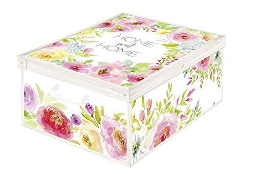 Kanguru Sweet Home Caja de Almacenamiento en cartòn Lavatelli, facil Montaje, Resistente, 39x50x24cm, Grande