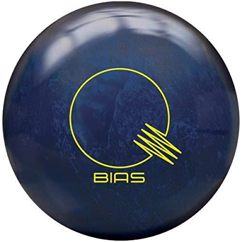 Brunswick Quantum Bias Pearl, Blaue grüne Pearl Oberfläche, Reactive Bowlingkugel für Einsteiger und Turnierspieler - inklusive 100ml EMAX Ball-Reiniger Größe 16 LBS