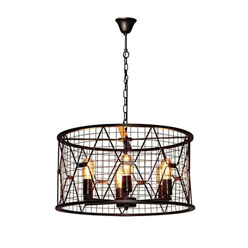 E27 × 6 vlammen hanglamp ronde lamp creatieve persoonlijkheid retro industrie hanger hanglamp metaal verlichting ijzer voor restaurant café woonkamer hanglamp lamp Ø55 x 29 cm