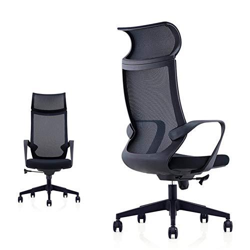 TXYJ Mesh bureaustoel Ergonomische bureaustoel Computer bureaustoel, mesh zitting en rug, brede hoofdsteun, verstelbare Lumbar ondersteuning en armsteun (zwart)