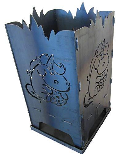 Générique D&S Vertriebs GmbH Panier à feu Design en Bois de pin 40 x 40 x 80 cm