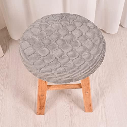 KingMSPG 10 paquetes de cojines de silla redondos, fundas de cojines de taburete, fundas de cojín de asiento para interiores y exteriores para el hogar y la cocina (4 unidades, gris)