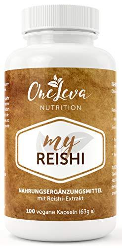 My Reishi | 100 Kapseln | 500 mg Reishi Pilz Extrakt mit 30% Polysacchariden | hochwertiger Vitalpilz | Ling Zhi | Ganoderma Lucidum