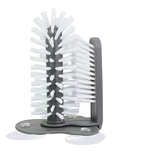 Kbnian Gläserspülbürste Doppelseitiger Becher Bürste Gläserbürste mit Saugnäpfen Tassenbürste Spülbürste für Bar Küche Spüle Reinigung Werkzeuge