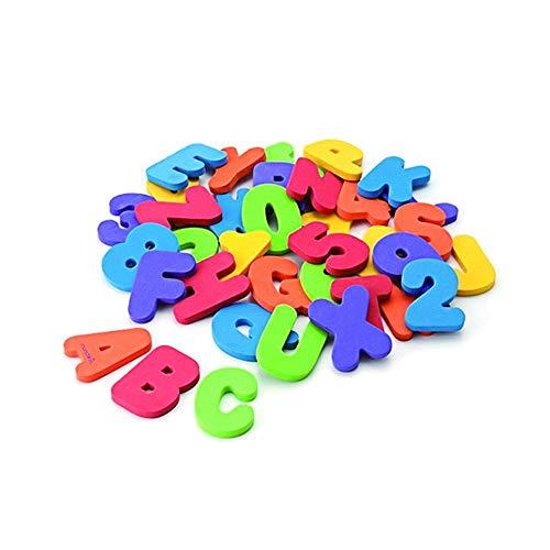 homese Badspeelgoed, organizer, badletters en cijfers, babybadspeelgoed, kleurrijk pedagogisch badspeelgoed met premium badspeelgoed, opslag, niet giftig, drijvend speelgoed, 36 stuks, ABC voor kinderen