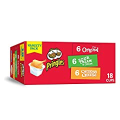 Satisfy snack cravings with the irresistible taste of three delicious potato crisp flavors in one pack; uniquely shaped and seasoned from edge to edge for a perfectly flavored bite every time Make snacktime more fun with the original, stackable potat...
