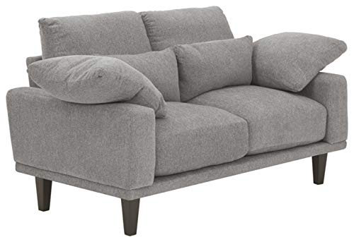 Signature Design by Ashley - Baneway Mid-Centry Loveseat, Gray -  Ashley Furniture Industries, 9170135
