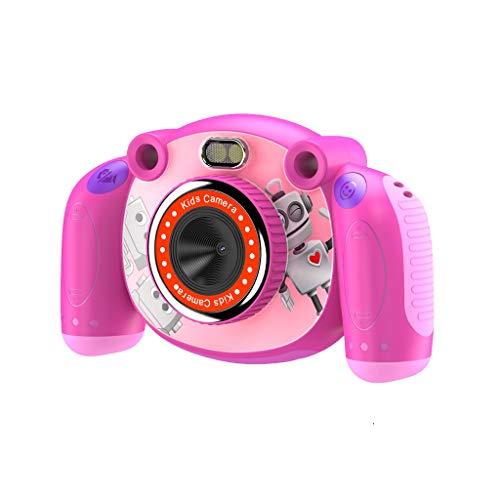 Excelvan Cámara para niños KC501 Pantalla de Alta definición de 2 Pulgadas 320 * 240 Gran Angular 110 Grados 720P Luces LED de Alto Brillo, Color Rosa Oscuro