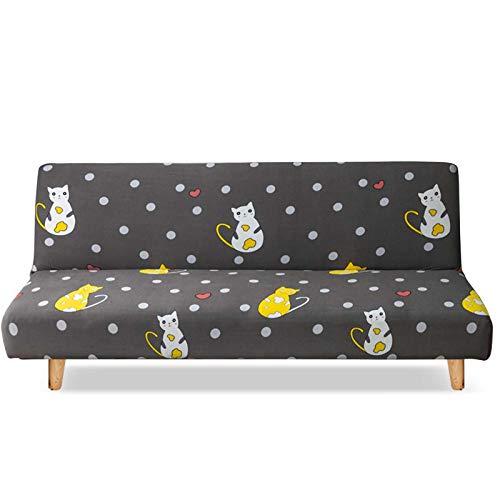 PETCUTE Funda para Sofá sin Brazo Sofá Funda de Cama Elástica Protector para Futón Couch Bench de 2 Plazas 150-190cm
