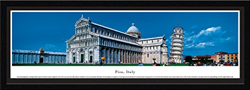 Pisa, Italy - Leaning Tower - Blakeway Panoramas Icon Posters with Select Frame
