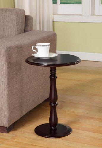 Kings Brand Furniture Beistelltisch aus Holz, Dunkles Kirschholz-Finish