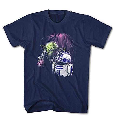 Camiseta Hombre Zombie Joda Vs. R2D2 Star Movie Wars Cine - Negro, XL
