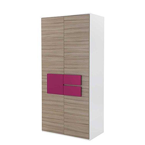 Pharao24 Jugend Kleiderschrank in Holz Pink modern