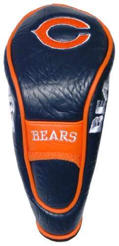 Team Golf NFL Chicago Bears Hybrid Golf Club Headcover, Hook-and-Loop Closure, Velour lined for Extra Club Protection