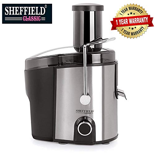 Sheffield Classic 450 Watts Electric Juicer with 2 Speed Levels (SH-1012 Black)