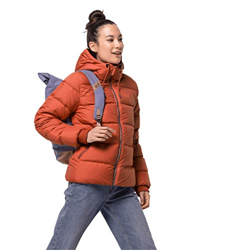 Jack Wolfskin Damen CRYSTAL PALACE JACKET W winddichte Daunenjacke, saffron orange, M