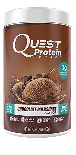 Quest Nutrition Chocolate Milkshake Protein Powder, High Protein, Low Carb, Gluten Free, Soy Free, 2lb Tub