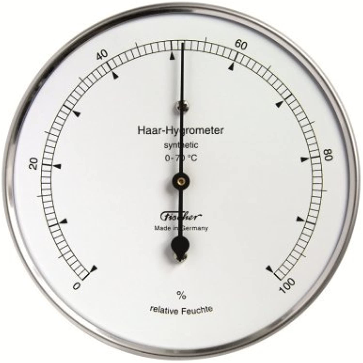 Ambient Weather 122-01 Fischer Instruments Precision Synthetic Hair Hygrometer