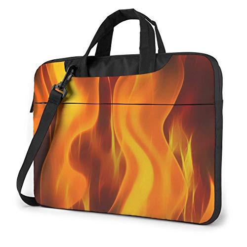 Fire Flame (2) Bolsa para computadora Maletín para computadora portátil Duradero Bolso Bandolera para computadora portátil de 15.6 Pulgadas