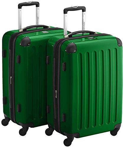 HAUPTSTADTKOFFER - Alex - 2er Koffer-Set Hartschale glänzend, TSA, 65 cm, 74 Liter, metal. Grün