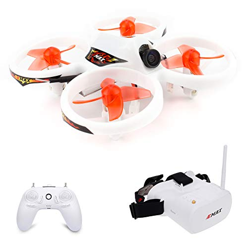 GoolRC EMAX EZ Pilot Drone for Beginners, Indoor FPV RC Racing Drone with 600TVL Camera, Gyroscope Auto-Leveling, Smart Height Assist with FPV Glasses