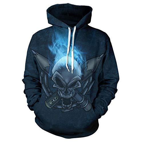 Hoodie Capuchahoodie 3D Print Horror Skull Mens Woman Hoodies Leisure Fashion Sweatshirt Jacket 3XL Klt01