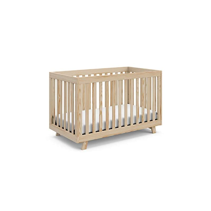 crib bedding and baby bedding stork craft beckett 3-in-1 convertible crib, natural, fixed side crib, solid pine and wood product construction, converts to toddler bed or day bed (mattress not included), full, 64.2 pounds