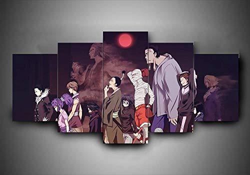 BHJIO 5 Piezas Cuadro sobre Lienzo Imagen Anime Impresión Pinturas Murales Decor Fotos para Salon,Dormitorio,Baño,Comedor Regalo 80X150Cm