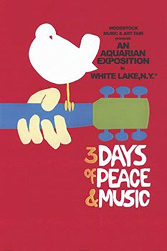 Close Up Woodstock Poster 3 Days of Peace and Music (61cm x 91,5cm) + Ü-Poster