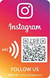1 Pegatina 'Síguenos' Instagram con QR | Gana Seguidores en 1 clic | QR reutilizable | Materiales...