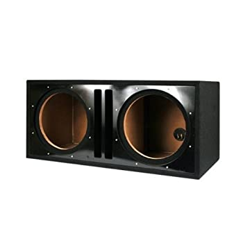 Absolute USA PDEB10BK Dual 10-Inch 3/4-Inch MDF Twin Port Subwoofer Enclosure with Black High Gloss Face Board