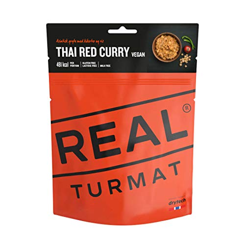 Drytech Real Turmat Thai Curry Rot Trekking Mahlzeit Outdoor Essen Ration Nahrung Vegan