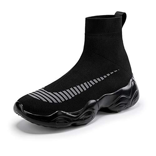 NEWQSING Zapatillas De Deporte De Corte Alto Slip-on De Moda Unisex Zapatos De Holgazán De Pareja De Punto Zapatillas De Deporte De Gimnasio De Punto