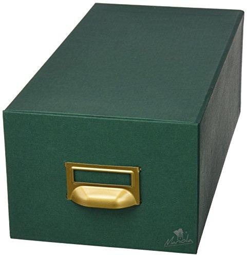 Mariola 3-1000 - Fichero cartón forrado en Geltex para 1000 fichas dimensiones 180 x 125 x 350 mm, color verde