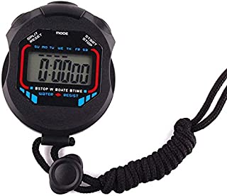 JINHAN ساعة توقيت ساعة توقيت إلكترونية ساعة توقيت للماء للسباحة تشغيل الرياضة في الهواء الطلق 7.5 × 6.0 × 1.8 سم Stopwatches